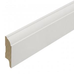 Hoge plint MDF kwartkraal profiel 8cm